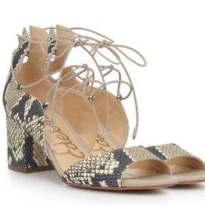 Sam Edelman Serene Snake Block Heel Dress Sandals
